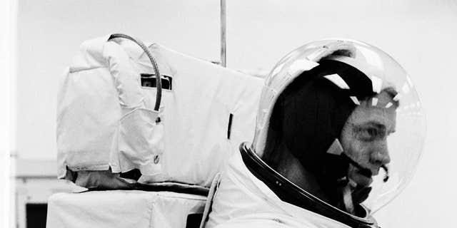 Astronaut Russell Schweickart, Apollo 9 primary organisation lunar procedure pilot, participates in a Countdown Demonstration Test (NASA)