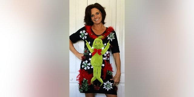 Her most requested sweaters are ones that feature the Dr. Seuss character The Grinch.<br>