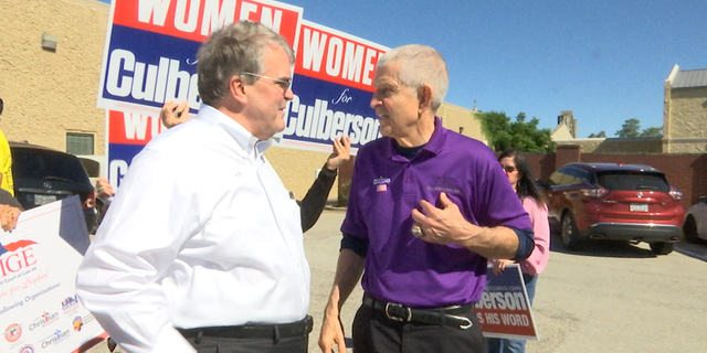 Republican Rep. John Culberson (left) says he's optimistic despite facing a tight race against his Democratic challenger.