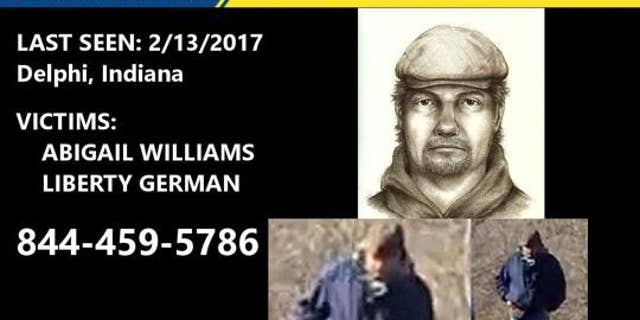 Indiana State Police have distributed a photograph and sketch of the suspect connected to the murder of two teenage girls in Delphi, Indiana last year.