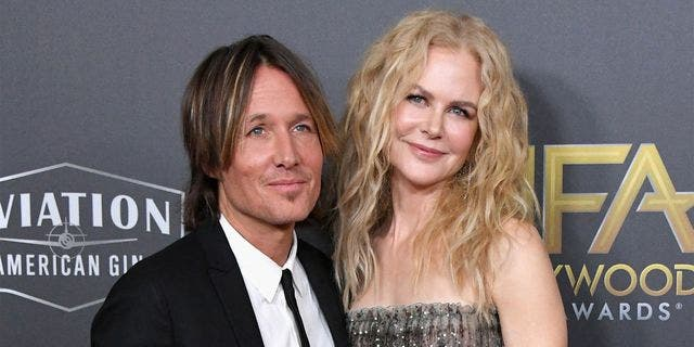 """Keith Urban gave wife Nicole Kidman a sweet shout-out at the 2019 CMT Music Awards. Urban revealed the 51-year-old actress wasn't in attendance because """"she's working in New York."""""""