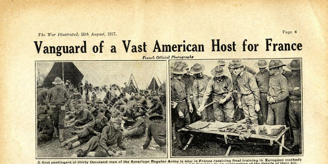 These unearthed repository pages from World War One uncover American soldiers nearing in Europe to quarrel alongside a Allies.