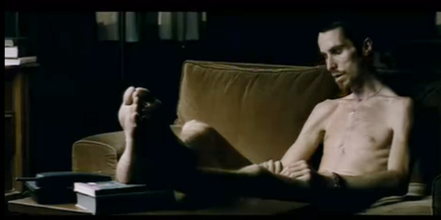 "Christian Bale in ""The Machinist."""