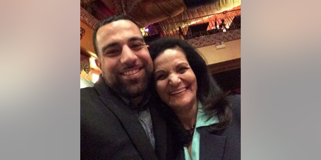 Ahmad Abuznaid with Rasmea Odeh, a Palestinian terrorist who spent a decade in an Israeli prison for two terror attacks, including the 1969 bombing of an Israeli supermarket that killed two students