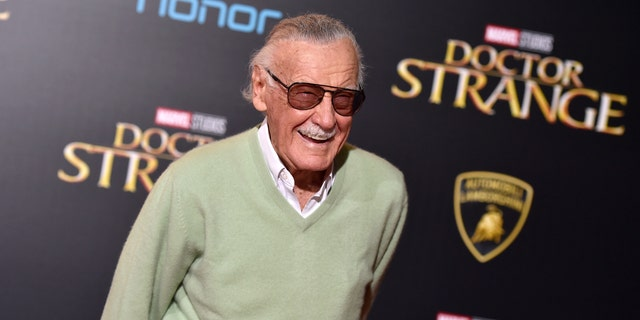 "FILE - In this Oct. 20, 2016 file photo, Stan Lee arrives at the premiere of ""Doctor Strange"" in Los Angeles."