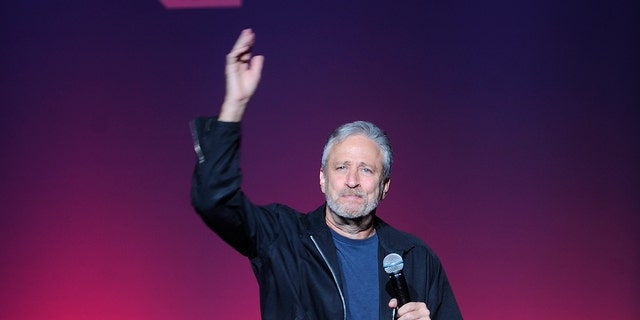 Jon Stewart attends the 12th annual Stand Up For Heroes benefit concert at the Hulu Theater at Madison Square Garden on Monday, Nov. 5, 2018, in New York.