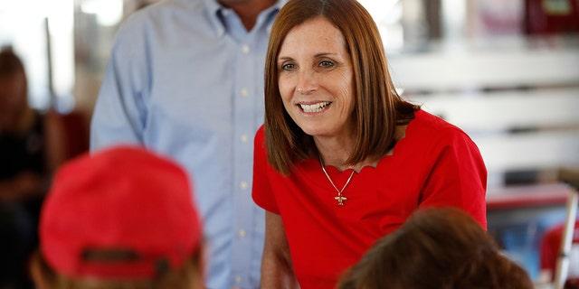 Sen. Martha McSally visited the Yuma, Ariz., area on Wednesday.<br> (AP Photo/Matt York)
