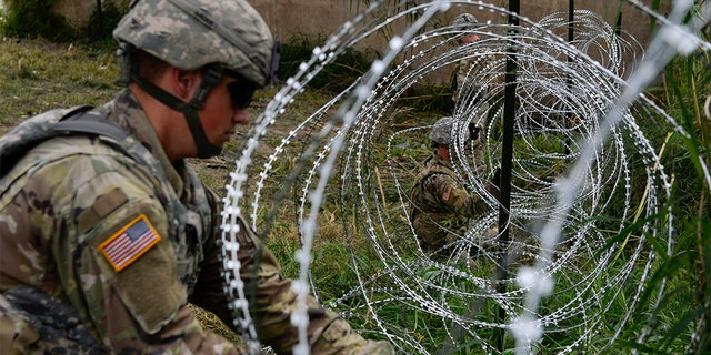 "President Trump on Saturday referred to the barbed wire as ""beautiful"" and said that ""barbed wire used properly can be a beautiful sight."""