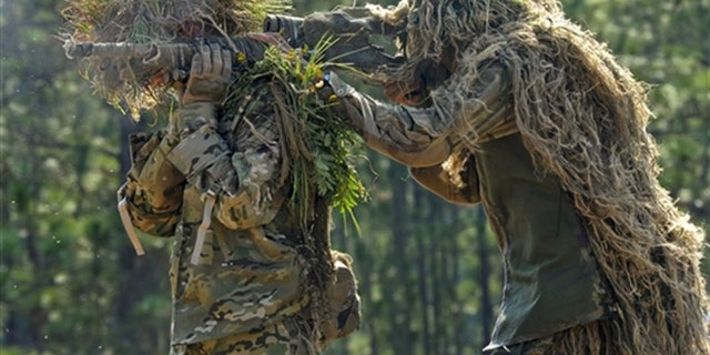 File photo of two snipers (U.S. Army)