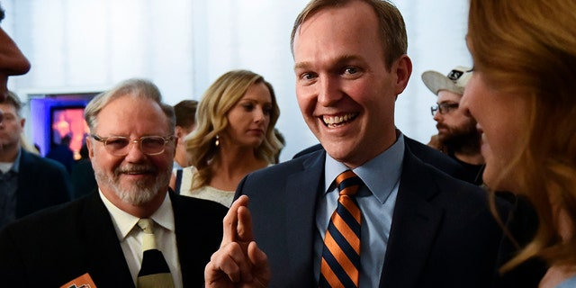 Salt Lake County Mayor Ben McAdams, Democratic candidate for Utah's 4th Congressional District, speaks to supporters during an election night party, in Salt Lake City on Nov. 6. (Associated Press)