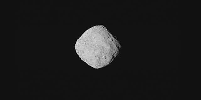 "This ""super-resolution"" view of asteroid Bennu was created using eight images obtained by NASA's OSIRIS-REx spacecraft on Oct. 29, 2018, from a distance of about 205 miles. (NASA/Goddard/University of Arizona)"