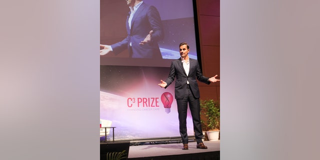 Bill Rancic on stage at theC3 Prize live pitch event .inin Kuala Lumpur, Malaysia in early October 2018.