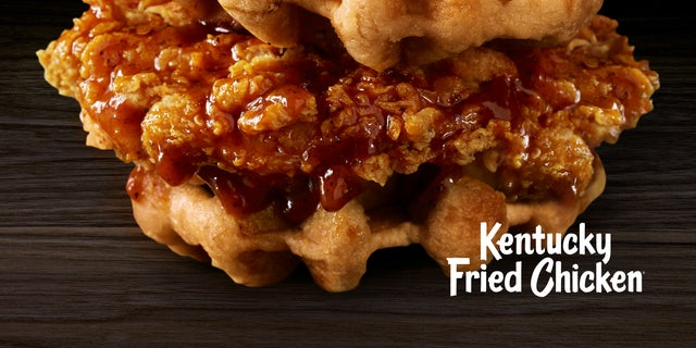 The new limited-edition offering starts with crispy fried chicken topped with Mrs. Butterworth's maple-flavoredsyrup between two Belgian Liege-style waffles.