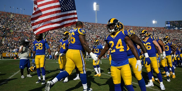 The Rams canceled practice last week after a wildfire forced about 20 players and coaches to evacuate their homes. (Photo by John McCoy/Getty Images)