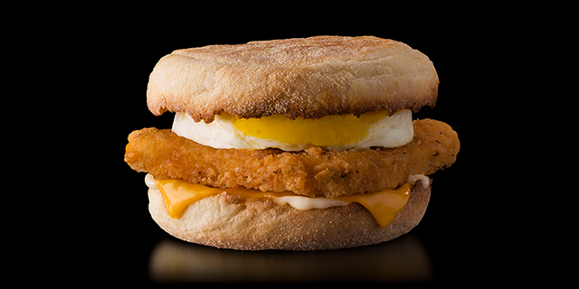 This super cool 6,000-square-foot Chicago McDonald's is now serving a chicken McMuffin with egg, which features on menus in some Asian markets