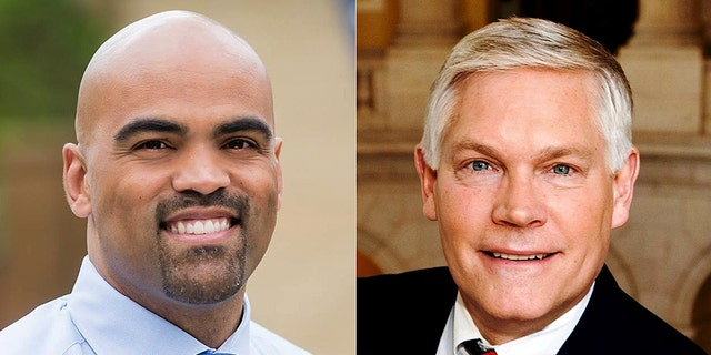 The race between Rep. Pete Sessions (right) and Colin Allred (left) is ranked a toss-up.