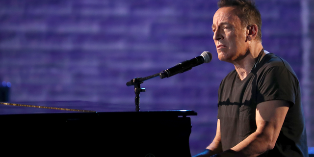 Bruce Springsteen performs at the 72nd annual Tony Awards at Radio City Music Hall, in New York, on June 10, 2018.