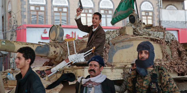 Houthi Shiite fighters in Sanaa, Yemen are pictured in December 2017. (AP Photo/Hani Mohammed, File)