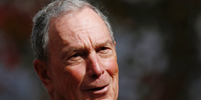 FILE - In this Nov. 29, 2018 file photo, former mayor of New York City, Michael Bloomberg, speaks to the media in Jackson, Miss. Bloomberg's philanthropy has announced a $50 million donation to help fight the nation's opioid epidemic. Bloomberg Philanthropies says over the next three years it'll help up to 10 states address the causes of opioid addiction and strengthen prevention and treatment programs. (AP Photo/Rogelio V. Solis)