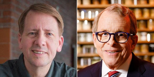 Democrat Richard Cordray (left) faces Republican Mike DeWine in Ohio's gubernatorial race.