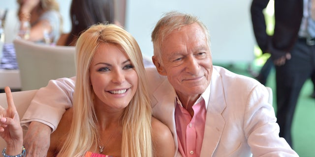 Crystal Harris, pictured here in 2013 with the late Hugh Hefner, spoke to Fox News about her time as a Playmate and her five-year marriage to the Playboy magazine founder.