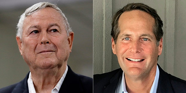 The race between Rep. Dana Rohrabacher (left) and Harley Rouda (right) is ranked a toss-up.