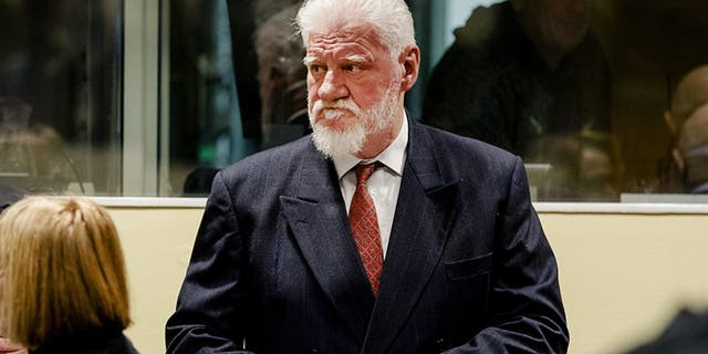 Praljak, 72, a former commander in Bosnia's 1992-95 war, committed suicide on Nov. 29, 2017.