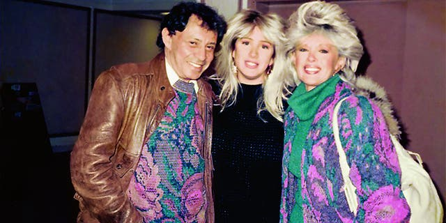 Joely Fisher with her parents at Emerson College.