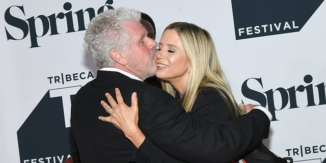 """Ron Perlman and Mira Sorvino attend the """"StartUp"""" Season 3 Premiere for the Tribeca TV Festival at Spring Studios on September 21, 2018 in New York City."""