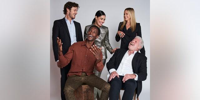 "(L-R) Actors Adam Brody, Edi Gathegi, Otmara Marrero, Ron Perlman, and Mira Sorvino of Sony Crackle's ""StartUp"" pose for a portrait during the 2018 Tribeca TV Festival on September 21, 2018 in New York City."