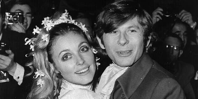 Sharon Tate and Roman Polanski on their wedding day.