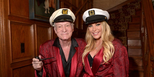 Hugh Hefner And Crystal Attend Playboy Mansions Annual Halloween Bash At The Mansion On