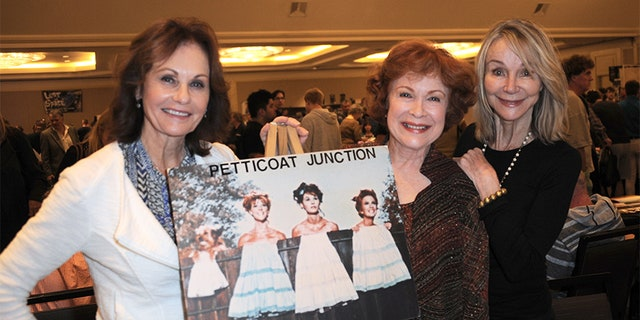 Lori Saunders, Linda Henning and Gunilla Hutton at The Hollywood Show held at The Westin Hotel LAX in a 2015 reunion.