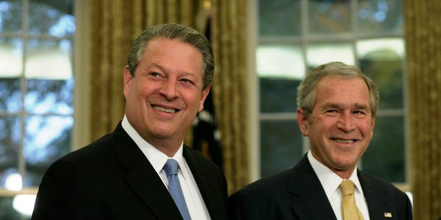 The U.S. Supreme Court ruled in a 5-4 vote that Bush was the victor in the 2000 presidential election.