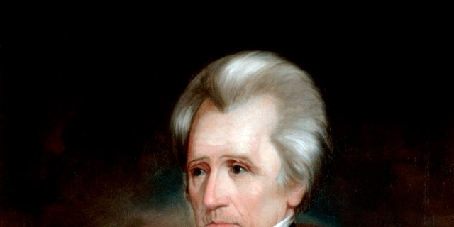 Portrait of Andrew Jackson by Ralph EW Earl (American, c 1785-1838) (oil on canvas from the White House collection, Washington DC), c 1838