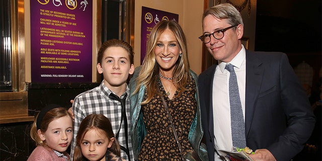 Sarah Jessica Parker with her family in New York City.