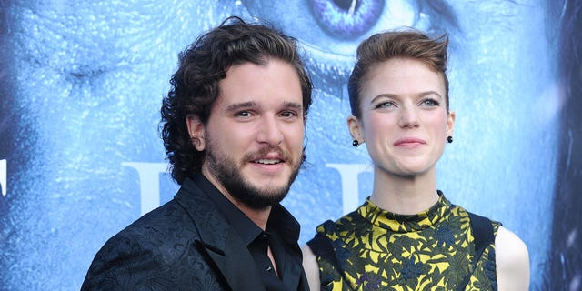 """Game of Thrones"" star Kit Harington is married to former co-star Rose Leslie."