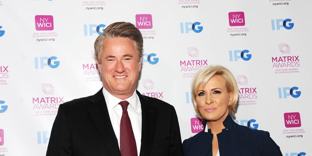NEW YORK, NY - APRIL 23: TV co-host Joe Scarborough and news presenter Mika Brzezinski attend 2018 Matrix Awards at Sheraton New York Times Square on April 23, 2018 in New York City. (Photo by Desiree Navarro/WireImage)