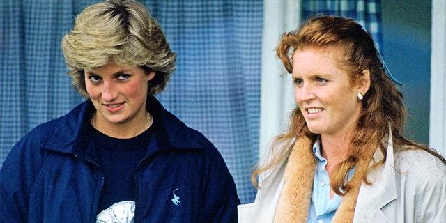 Princess Diana and Duchess of York Sarah Ferguson.