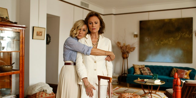 """Sarah Jessica Parker (left) with Jacqueline Bisset in """"Here and Now."""""""