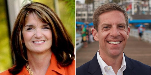 The race between Diane Harkey (left) and Mike Levin (right) is ranked as leaning Democrat.