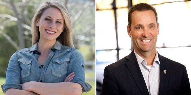 The race between Rep. Steve Knight (right) and Katie Hill (left) is ranked a toss-up.