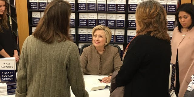 Hillary Clinton, during her last visit to New Hampshire in December 2017 as part of her book tour. (Paul Steinhauser/Fox News)