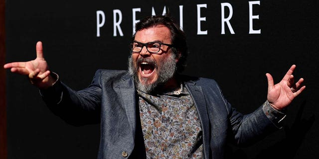 """Actor Jack Black poses at the premiere for """"The House With a Clock in its Walls"""" in Los Angeles, California, U.S., August 16, 2018."""