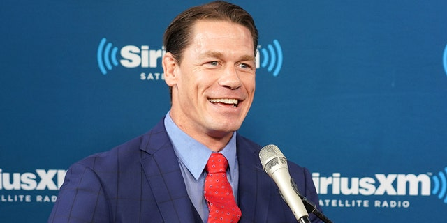 "<strong>John Cena talked with SiriusXM host Hoda Kotb at SiriusXM Studio in New York City on October 10, 2018.</strong>""/></source></source></picture></div> <div class="