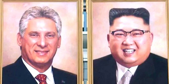Kim Jong Un got his first official portrait since becoming the North Korean leader. A painting of Cuban leader Miguel Diaz-Canel was also displayed in Pyongyang for the North Korea-Cuba summit.