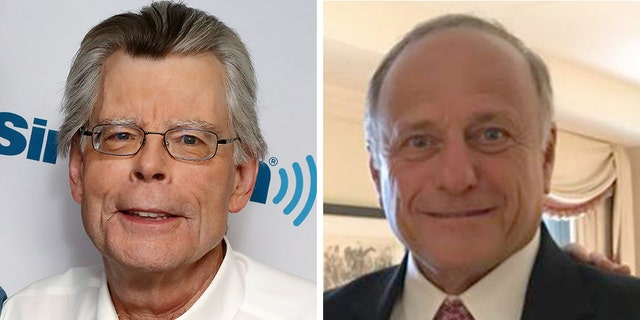 With Iowa Republican Rep. Steve King, right, engulfed in controversy, authorStephen King took to social media over the weekend to try to distance himself from the congressman.