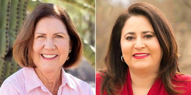 The race between Ann Kirkpatrick (left) and Lea Marquez Peterson (right) is ranked as leaning Democrat.