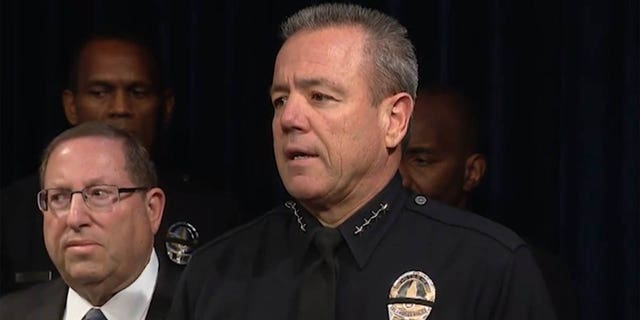 "LAPD Chief Michel Moore said the arrest was part of a growing problem, and that ""hate in America is on the rise."""
