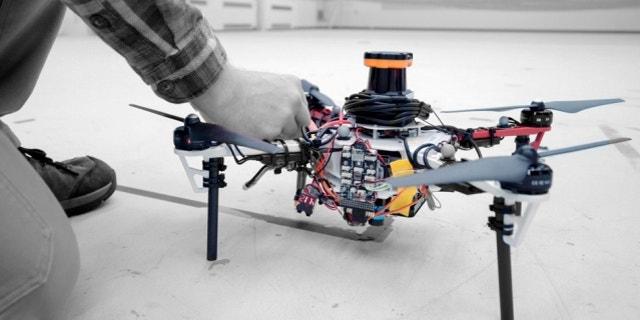 MIT researchers say that an autonomous drone fleet could help find lost hikers. (Melanie Gonick)